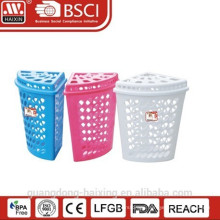 Popular plastic laundry basket/Hot sale laundry basket with lid(44L)