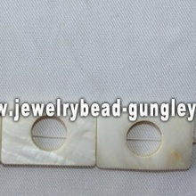 rectangle shape freshwater shell beads