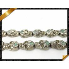 Ювелирные изделия шариков шарма черепа, оптовый неподдельный драгоценный камень Pyrite (GB0106)
