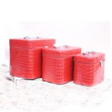 Rote Kosmetiktasche Beauty Case Lady PU-Tasche