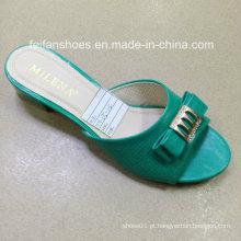 Novo estilo boa qualidade moda senhoras sapatos sandálias pu (jh160523-5)