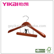 High Quality Wooden Coat Hanger with Trousers Clamp