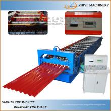 Azulejos de azulejos corrugados que hacen la maquinaria / fabricación automática que hace la máquina de azulejos de azulejo de acero del rollo en frío