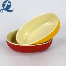 Plateau de cuisson ovale imprimé à bas prix d'usine de gros