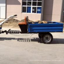 1500 kg de capacidad, un solo eje, remolque de descarga de tractor de mano