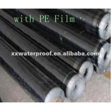PE film self adhesive bitumen waterproof membrane