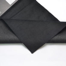 The elastic lantern core cotton can be used for making coats black stretch cotton