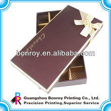 Caja de empaquetado impresa clara compensada del chocolate de la comida del cartón claro