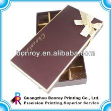 Offset printed clear cardboard custom food chocolate packaging box
