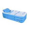 Portable inflatable SPA bathtub L shape cushion