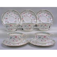 2014 nuevo producto de Corea del Japón con estilo elegante de hueso fino de cerámica de cerámica y platillo