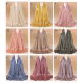 TINGYU Wholesale Fashion Plain Color Women Muslim Scarf Hijab