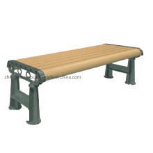 Waterproof UV Protected Street WPC Chair Wood Plastic Church Composite Bench WPC Garden Bench