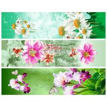 rose flower design 3d polyester printed fabric
