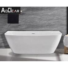 Aokeliya new hot-selling acrylic white freestanding bathtub modern soaking bathtub for two person for bathroom