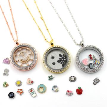 Поставка завода плавающей стеклянной жизни ожерелье кулон ожерелье ювелирные изделия