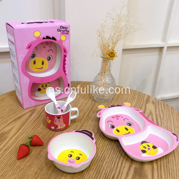 Vajilla Bamboo Child Eco-Friendly 5 PCS