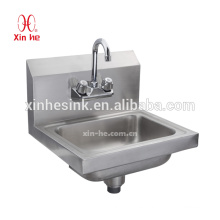 American Commercial Hand Wash Sink, NSF Splash Mounted Stainless Steel Hand Sink for US