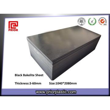 Hojas de baquelita negra laminada compacta o de plástico sólido