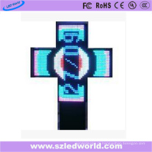 Cruz programável ao ar livre da farmácia do diodo emissor de luz P10