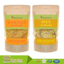 Custom Design Kraft Paper Stand Up Food Package Zip Lock Plastic Reusable Snack Bag