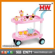 Cor-de-rosa engraçado DIY festa de aniversário bolo carros de brinquedo