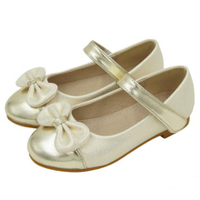 Hot sell cute fashion kids leather summer girls school shoes