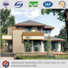 Casa de estrutura de aço leve pré-fabricada