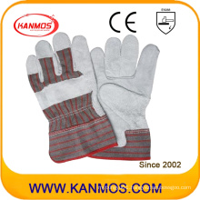 Industrial Safety Cowhide Leather Patched Palm Hand Work Gloves (11004-1)