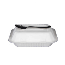 Sugar cane 100% biodegradable takeaway food container with 3 compartments