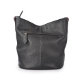 Casual Lady Genuine Bag Sac de seau quotidien noir