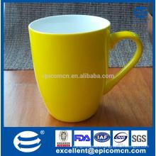 new bone china pearl shiny glazed yellow mug