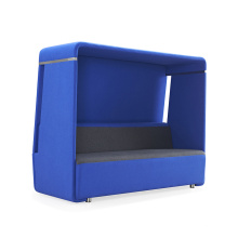 Customized Open Office Fabric 2 Seater Phone Booth Telephone Meeting Booth