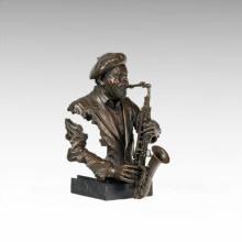Büsten Messing Statue Schwarz Menschen Dekoration Bronze Skulptur Tpy-481