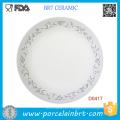 Wholesale White Cheap Porcelain Luncheon Plate