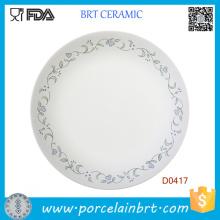 Plaque de déjeuner en porcelaine blanche pas cher