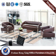 Reddish Brown Office Sofa with Match Coffee Table (HX-S3001)