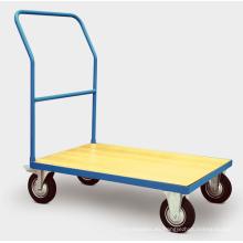 Carro de mano de plataforma de madera