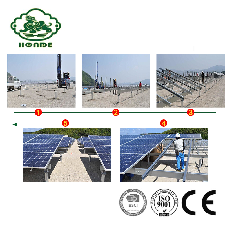Pv Solar Panel Ground Mounting System