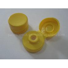 31/400 tampa de válvula de silicone amarelo para plástico garrafa espremível (PPC-PSVC-008)