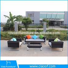 Vente chaude mobilier d'extérieur 4pcs PE rotin populaire canapé ensemble