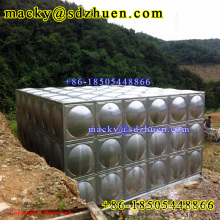 Good quality welded/bolted assembled modular square SS316 water tank for drinking water