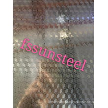 embossed stainless steel sheets (cube)