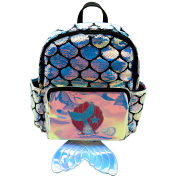 MERMAID2 LASER SEQUIN BACKPACK-0