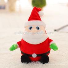 Cute Plush Toy Christmas Musical Santa con luz