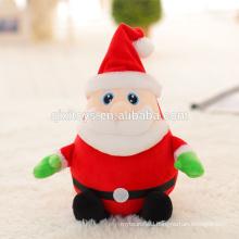 Cute Plush Toy Christmas Musical Santa with Light