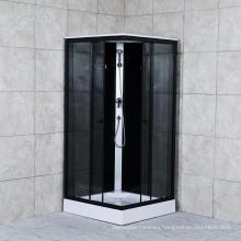 Black Paint Shower Cabin Black Shining Aluminium Shower Room