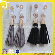 Factory Wholesale Handmade Colors Leather Tassel for Ear Decoration