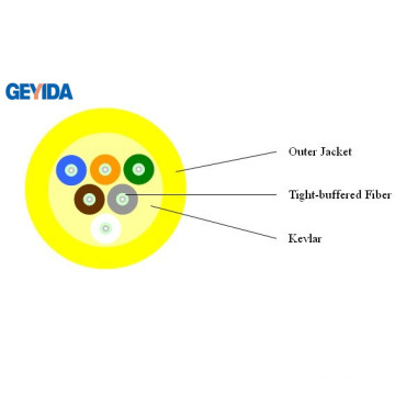 6 Core Indoor Distribution Fiber Optic Cable