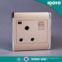 Different Colors BS Standard 15A Switched Socket with Neon